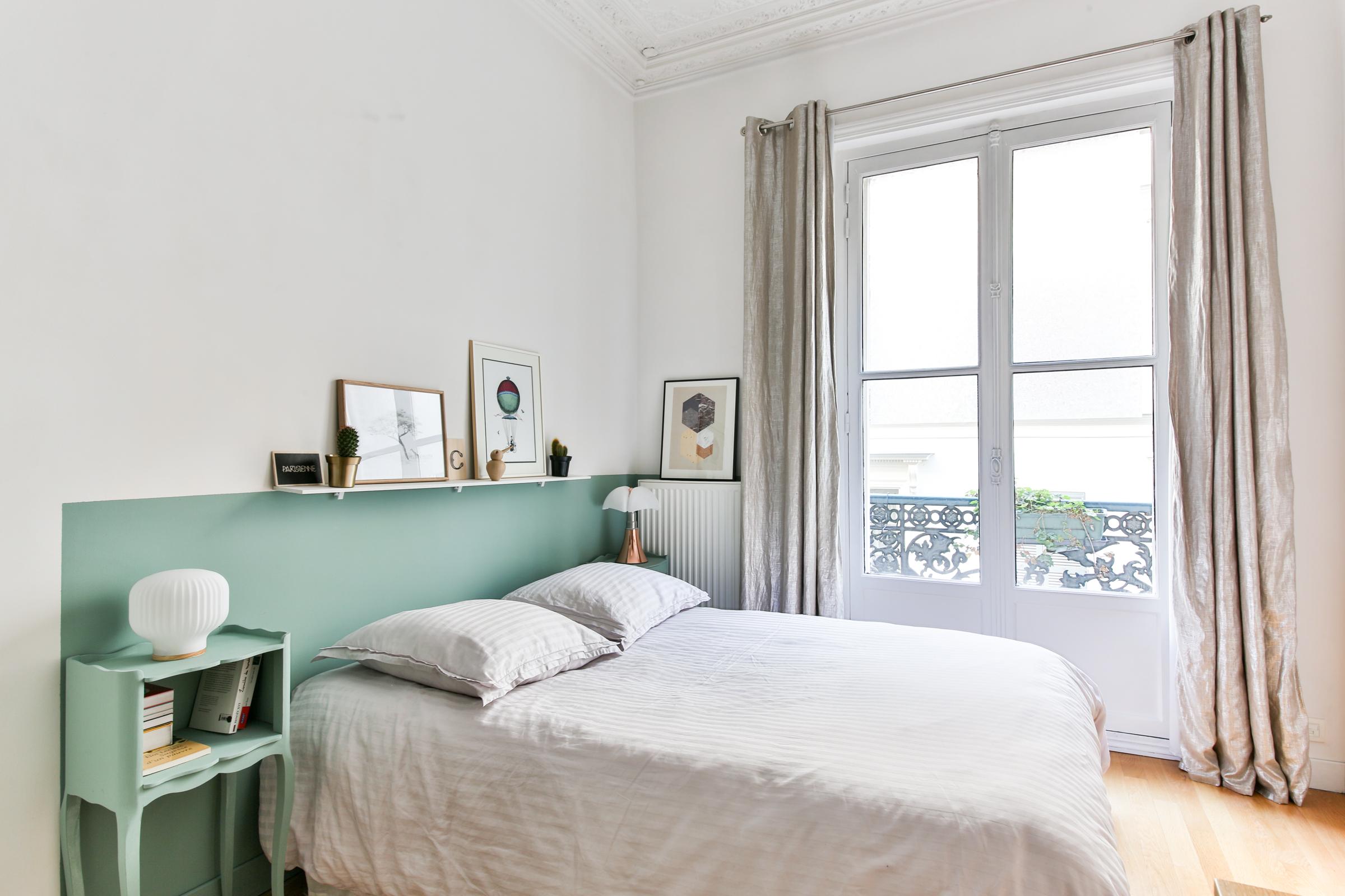 Claire Clerc décoration intérieure Chambre Paris 9¨me